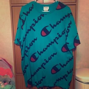 Turquoise champion shirt
